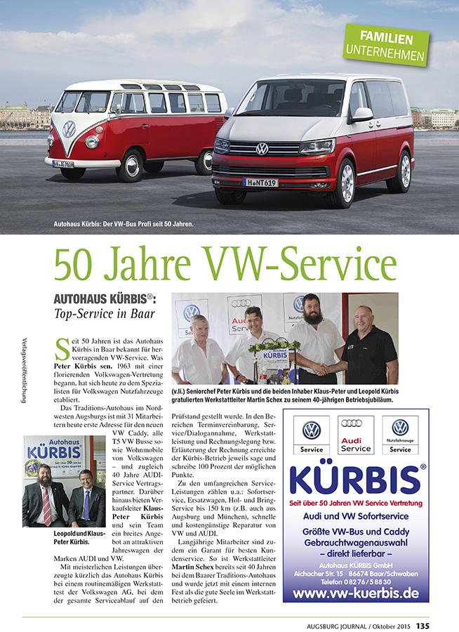 50 Jahre VW-Service