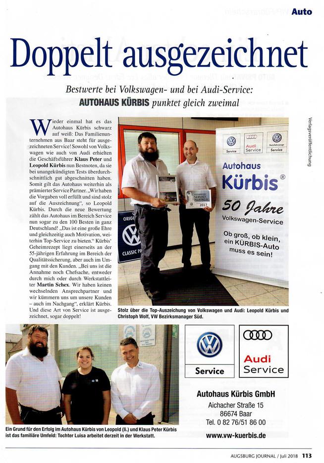 Kürbis Doppelt ausgezeichnet VW & Audi Service