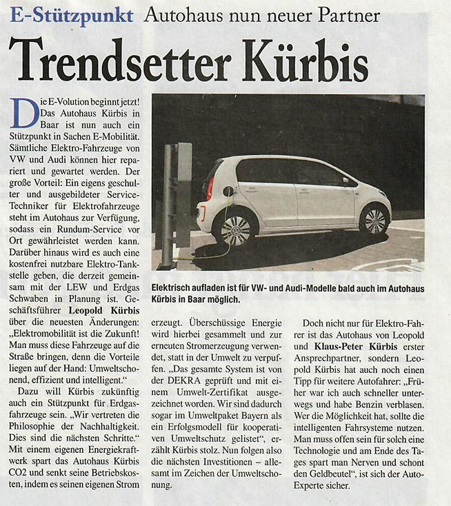 E-Stützpunkt Volkswagen