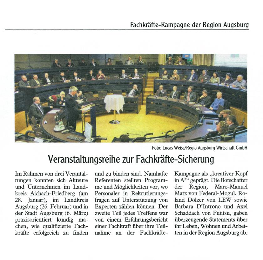Fachkräfte-Kampagne Region Augsburg