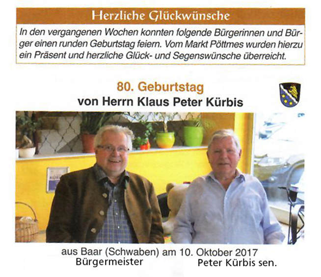 80. Geburtstag Peter Kürbis