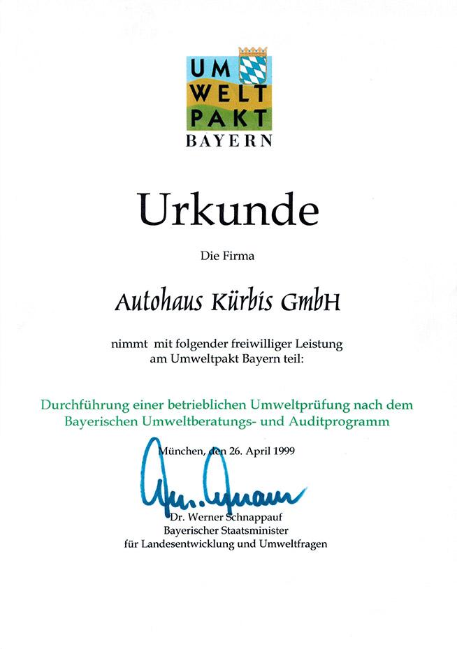 Kürbis Umweltpakt Bayern