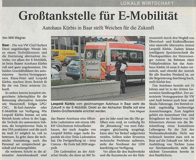 Großtankstelle für E-Mobilität